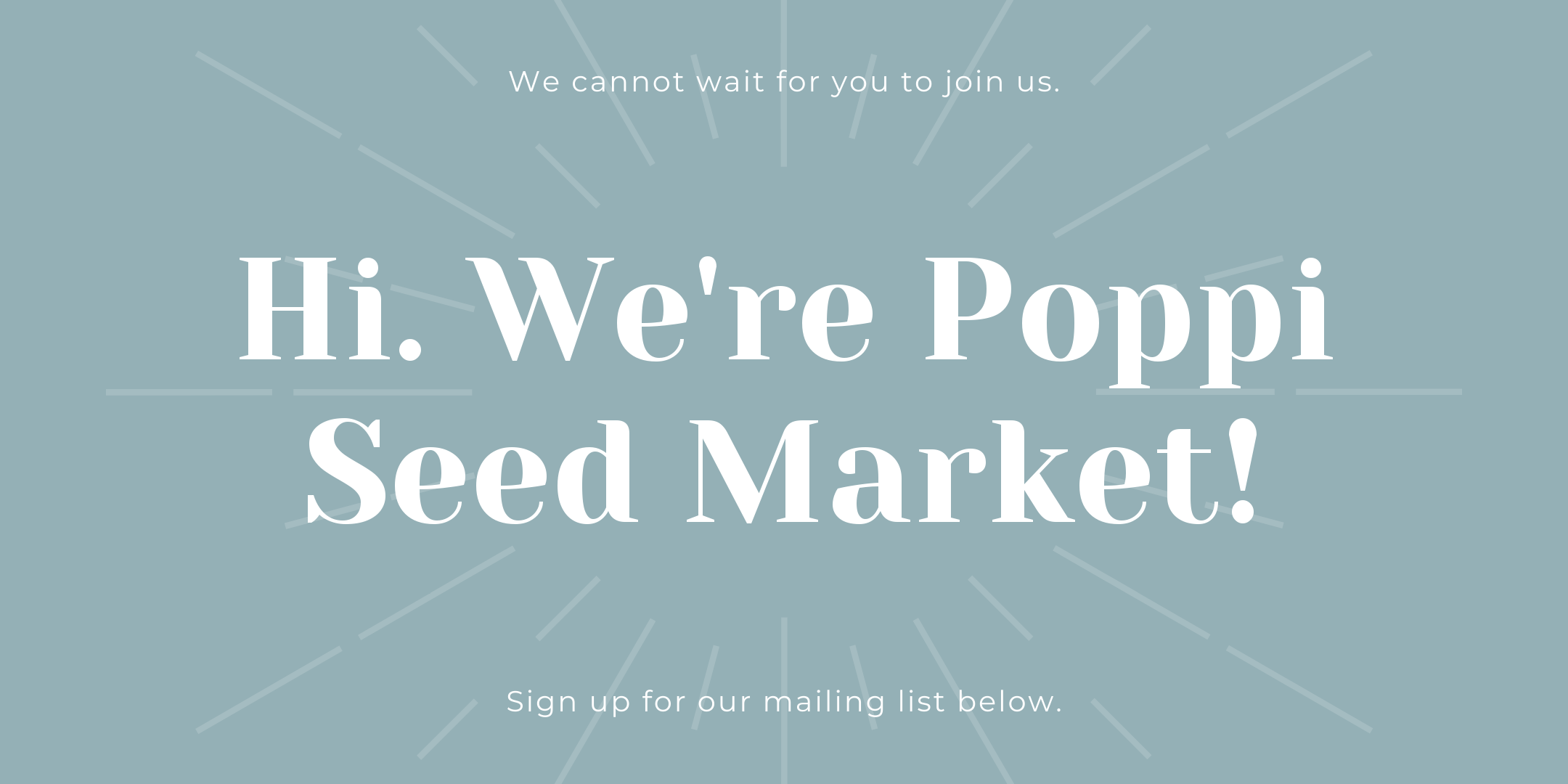 join us at a future market!